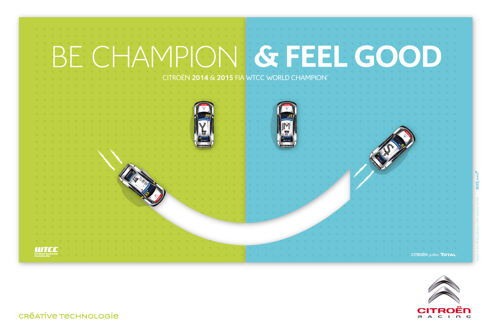 Affiche citroen feel good champion 2015